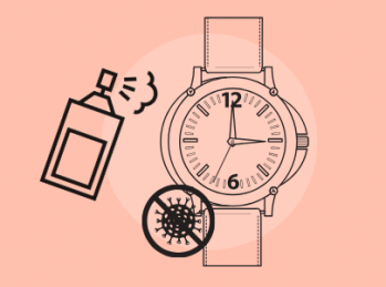 Sanitize your watch correctly